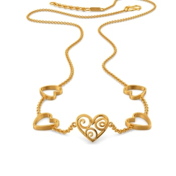 Exotic Edge Gold Necklaces
