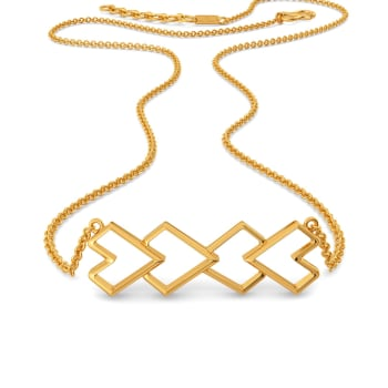 Love Rendition Gold Necklaces