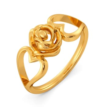 Amour Rosa Gold Rings