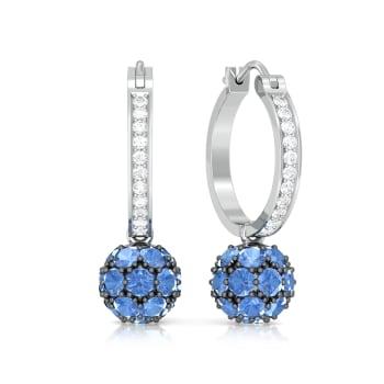 Blue Orb Diamond Earrings