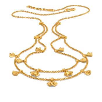Victorian Frills Gold Necklaces