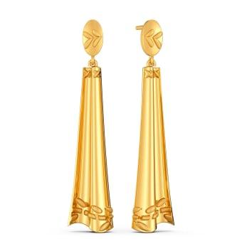 Playfully Frill Gold Earrings