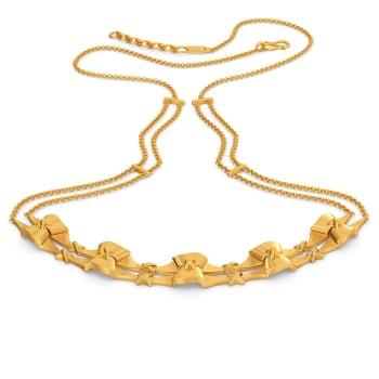 Ruffle Rhythm Gold Necklaces