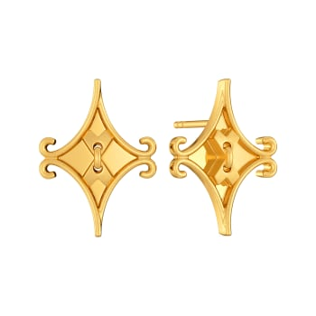 Stitch Switch Gold Earrings