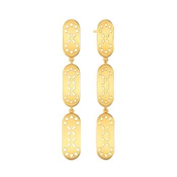 Dame of Fame Gold Earrings