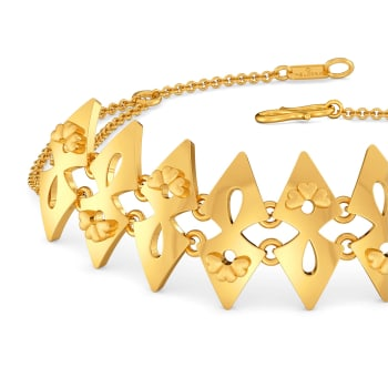 Floral Braid Gold Bracelets