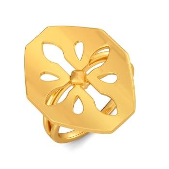 Quaint O Lace Gold Rings