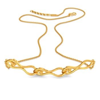 Vine Repeat Gold Necklaces