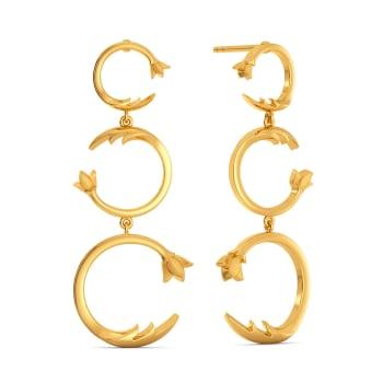 Loop De Vine Gold Earrings