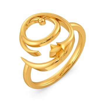 Loop De Vine Gold Rings