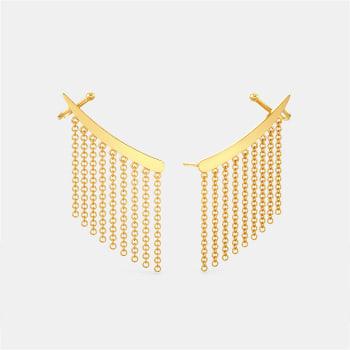 My Kinda Fringe Gold Earrings