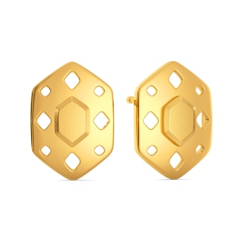 Fiery Fashion Gold Earrings