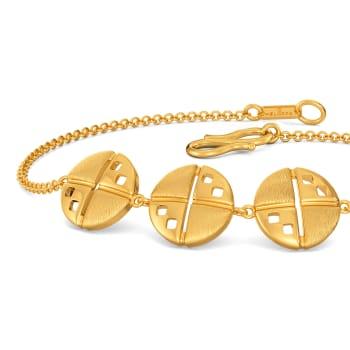 Daring Mutiny Gold Bracelets