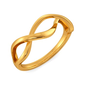 Flared Loops Gold Rings