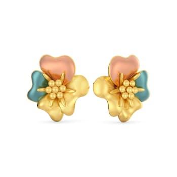 Chaplet Gold Earrings