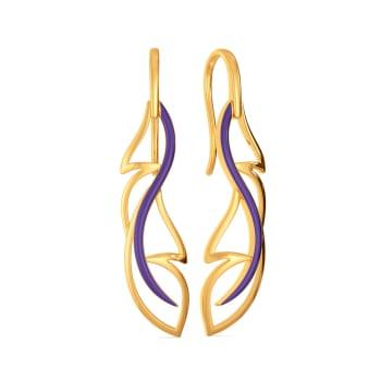 Violet Flutter Gold Earrings