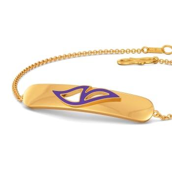 Violet Wings Gold Bracelets