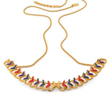 Plume Palette Gold Necklaces