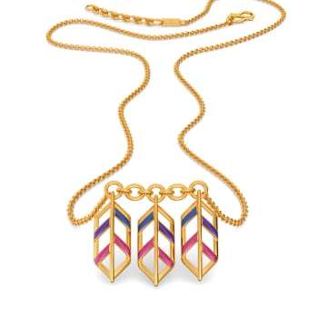 Feather Hues Gold Necklaces