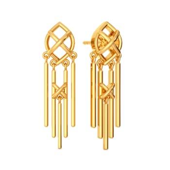 Fringe Tales Gold Earrings