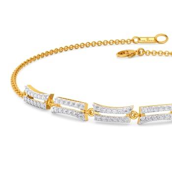 Wavy Streaks Diamond Bracelets