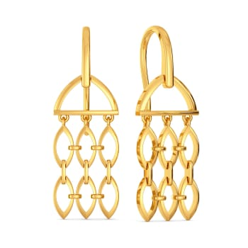 Nets in Mesh Gold Earrings