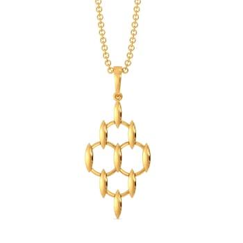 Meshy Affair Gold Pendants