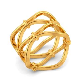 Link O Mesh Gold Rings