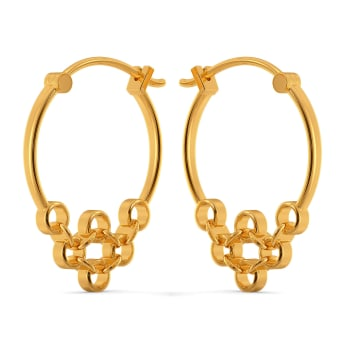 Port And Net Gold Earrings