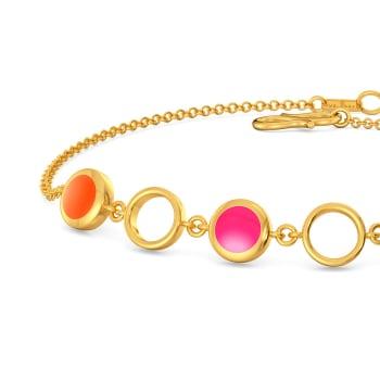Tangerine Blush Gold Bracelets