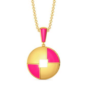 Pink A Wink Gold Pendants