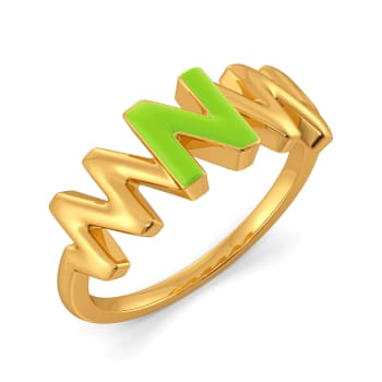Native Neon Gold Rings