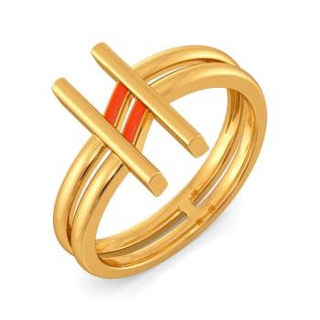 Happy Tangerine Gold Rings