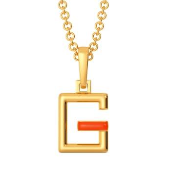 Glow Show Gold Pendants