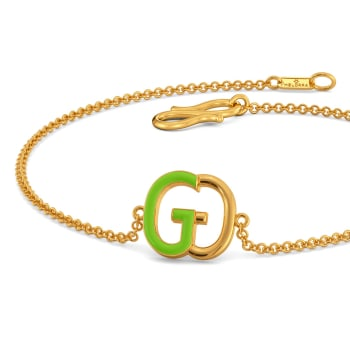 Green Grabs Gold Bracelets