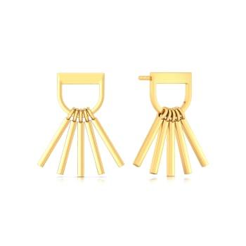 Flaunt the Fringe Gold Earrings