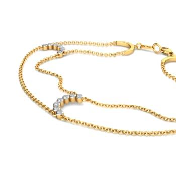 Looped Fringe Diamond Bracelets