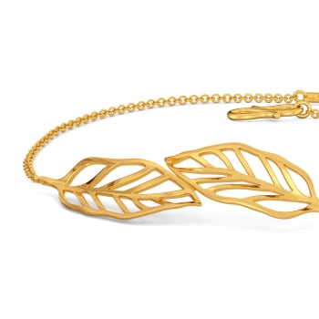 Groove in Feathers Gold Bracelets