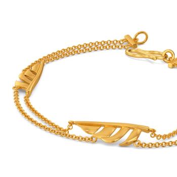 Flick A Feather Gold Bracelets