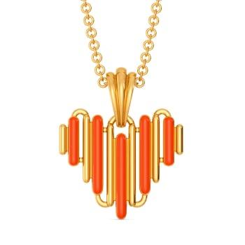 Zesty Neon Gold Pendants