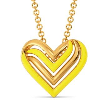 Valentine Sun Gold Pendants