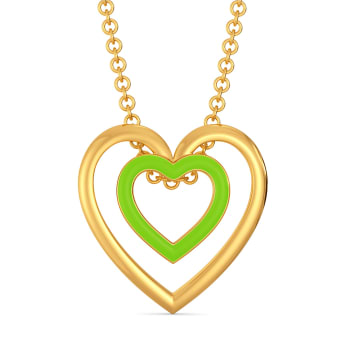 Look at Me Green Gold Pendants