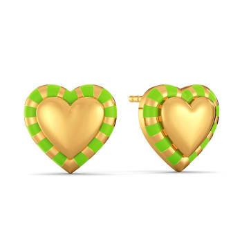 Look at Me Green Gold Earrings