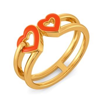 Fluoro Fire Gold Rings