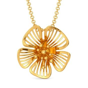 Floral Flock Gold Pendants