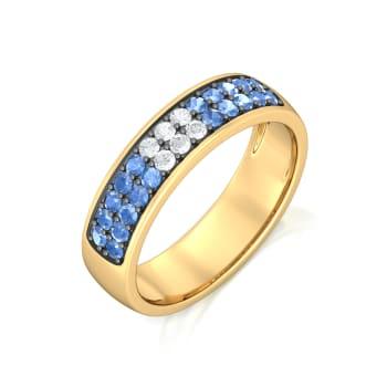 Monday Blues Diamond Rings