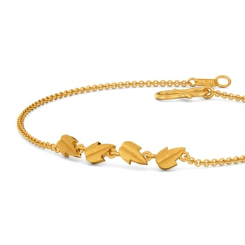 Leaf of Faith Gold Bracelets