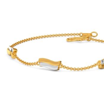 Twin Strokes Gold Bracelets