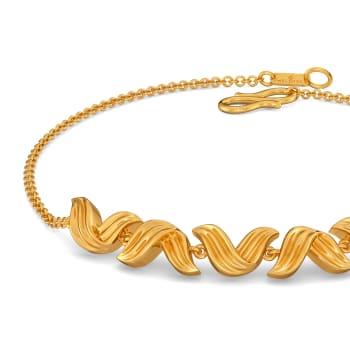 Graceful Folds Gold Bracelets