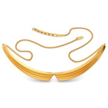 Graceful Folds Gold Necklaces
